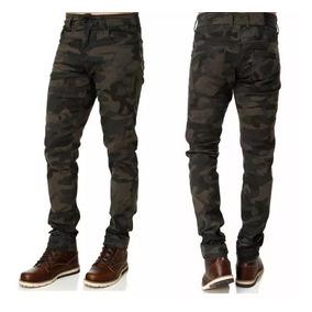 Calça Sarja Preta Masculina Slim Fit C/ Lycra Skinny + Cores