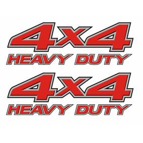Par Adesivos Emblema Picape Nissan Frontier 4x4 Heavy Duty