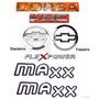 Kit Emblemas Corsa Sedan Vhc Flex + Maxx Preto - 2003 À 2007