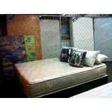 Colchon Doble Pillow Top 180 X 190cms Economico Acolchado