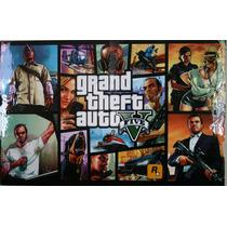 Poster De Grand Theft Auto V Enmarcado
