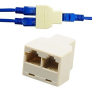 Adaptador Splitter Rj45 Cat5 6 Lan 1 A 2