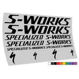 Adesivo Specialized S-works Mtb Speed 10 Cores Frete Gratis