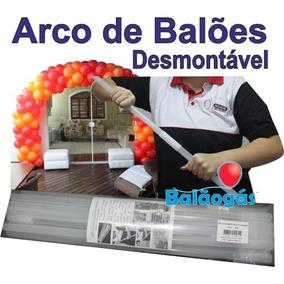 Arco Coluna Desmontável De Balões E Bexigas + Bases