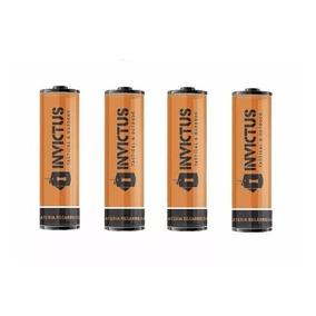 4 Bateria De Pilha Recarregável 18650 Invictus