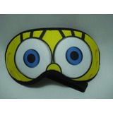 Máscara Para Dormir Bob Esponja Repouso Tapa Olho Viseira