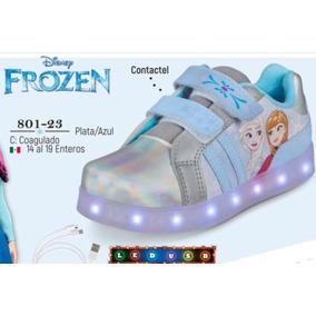 Tenis Con Luz Led Cklass Kids&teans Frozen 801-23