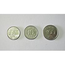 Moedas Antigas Cr$ Lote Com 3. 1993