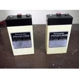 Par De Viejas Pilas Panasonic Panalloid Ty-355 De Los 70s