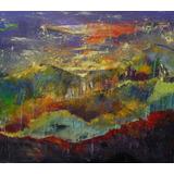 Cuadro Paisaje Pintura Abstracta Moderna Decoración Arte