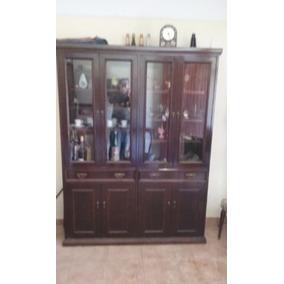 Muebles Living Comedor (cristalero, Mesa, Sillas) Usados