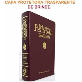 Bíblia De Estudo Pentecostal Media Harpa Cristã Vinho + Capa