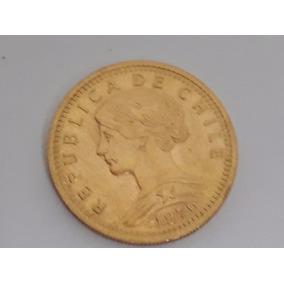 Moneda De Oro 4.2 Gr 20 Pesos Chileno 1976 - 2 Condores