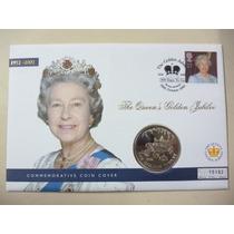 Malvinas Blister Moneda Carruaje Real Jubileo De Oro 2002