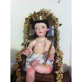 Niño Dios Sentado Silla Arte Sacro Religión