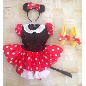 Disfraz Minnie Mouse Niña Envío Gratis