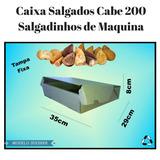 50 Caixa Papelao Branca Cabe 200 Mini Salgados De Maquina