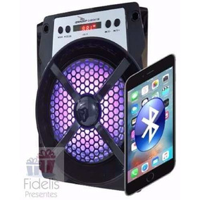 Caixa Som Portátil Amplificada Usb Mp3 Fm Sd Bluetooth Preto