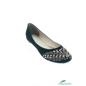 Zapato Casual Para Dama Piedras Negro Marca Constansa