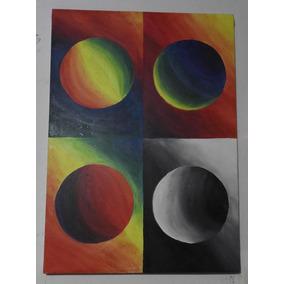 Cuadro Pintura Obra Arte Esferas Oleo Sobre Tela Envio Grati