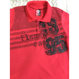Blusa Infantil Polo Flamengo Oficial Tam 08-10