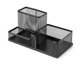 Porta Lápis Caneta Organizador De Mesa Metal 10 X 20 X 10 Cm