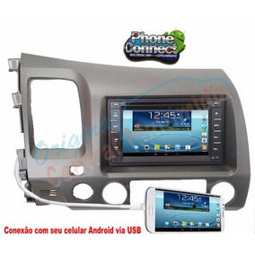 Kit Multimidia Universal Aikon Honda Civic 2007/2011+moldura