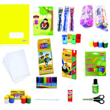 Kit Material Escolar Volta As Aulas Cadernos Completo Estojo