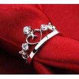 Anillo Reina Corona Midi Ring Moda Fashion Color Mujer Boda