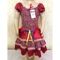 Vestido De Festa Junina Caipira Infantil 4 Lindo