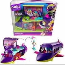 Polly Pocket Adventure Jet Super Jato + Acessórios
