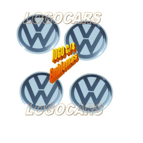 Jogo Emblema Vw P/calota Golf Tropper Amarok 90mm Branco
