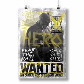 Pôster Batman Vs Superman Hero Wanted - Bandup!