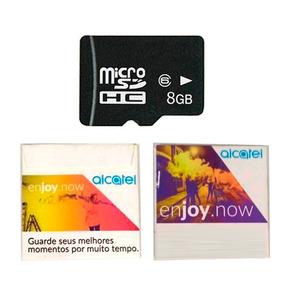 Cartão De Memória Alcatel Micro Sd 8gb Classe 6 Original