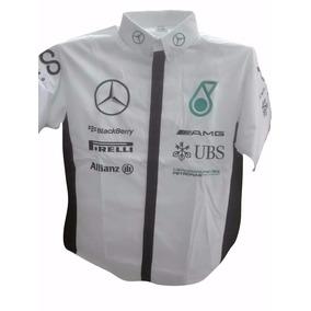 Camisas F1 Escuderia Mercedes Petronas Niño Blanca