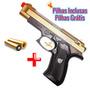 Rifle Pistola + Pilhas Luzes E Sons Pistola Replica Colorida