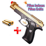 Rifle Pistola + Pilhas Luzes E Sons Pistola Replica Colorida