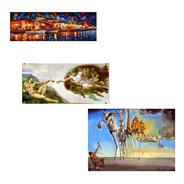 Kit 3 Posters Hd Foto Afremov Michelangelo Salvador Dali