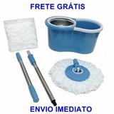 Spin Mop 360 Cesto De Inox Com 2 Refil Frete Grátis!