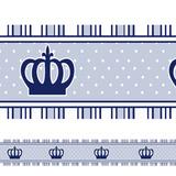 Adesivo Decorativo Faixa Infantil Coroa Príncipe Azul
