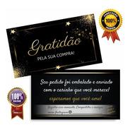 Cartão De Agradecimento (obrigado Pela Sua Compra) Pct 100