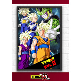 Poster A4 Dragon Ball Z Cell Goku Vegeta Trunks Gohan Picolo