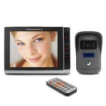 Vídeo Porteiro Visão Noturna Eletrônico Interfone Slim 8