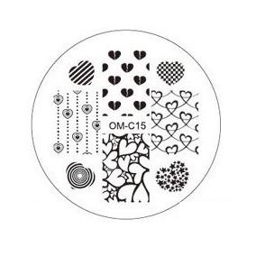 Placa Para Decoración De Uñas Con Sello Om-c15