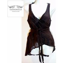 Blusa Lino Italiana Sarah Pacini -fashionella- Xs T9y2 T9y0