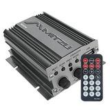 Amplificador 500w Usb Fm Control Remoto Auto Moto Mitzu