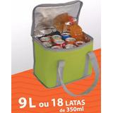 Bolsa Térmica 9 Litros Com Alça Verde Lancheira Marmiteira