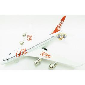 Miniatura Avião Gol Airbus A 380 Escala 1:300 Hua Peng