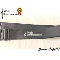Correia Violão/guitarra Em Couro Ecológico Web Instrumentos