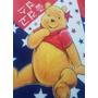 Manta Cobertor Plush Infantil Ursinho Puff Pooh Urso Soft